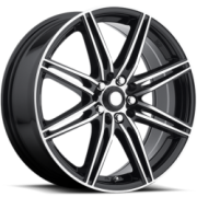 Katana TM1 Black Machined Wheels