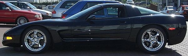 Keskin KT7 Chrome on Corvette