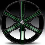 Lexani Arrow Black with Green Inserts