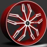 Lexani Arte Red and White Wheel