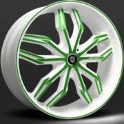 Lexani Arte White and Green Wheel