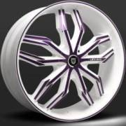 Lexani Arte White and Purple Wheel