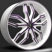 Lexani Arte White and Purple Wheel