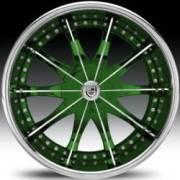 Lexani CS2 Green and Chrome