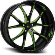Lexani Forged LF102 Black with Green Accent