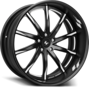 Lexani Forged LF-101 Black with White Accent