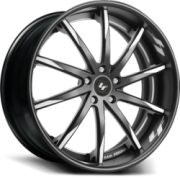 Lexani Forged LS-101 Black with White Accent