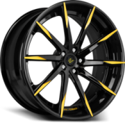 Lexani Forged LZ-101 Black with Yellow Accent