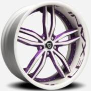 Lexani LT-717 White Purple Accents