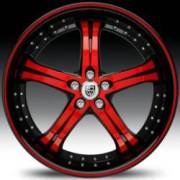 Lexani LSS-5 Red and Black