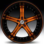 Lexani LSS-5 Orange and Black