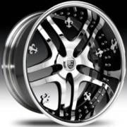 Lexani LT-701 Chrome w/BLK Windows w/Fleur de Lis
