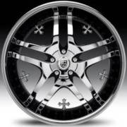 Lexani LT-701 Chrome and Black w/Crystal Cross