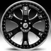 Lexani LT-704 Black and Chrome with Chrome Skulls
