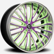 Lexani LT-713 Green and Purple with Chrome Lip