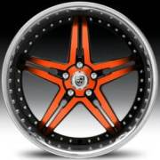 Lexani LX-15 Orange and Black