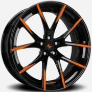 Lexani LZ-102 Sheen Black Orange Accents