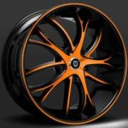 Lexani Polaris Orange and Black Wheels