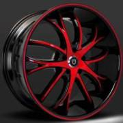 Lexani Polaris Red and Black Wheels