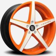 Lexani R-Four Orange and White