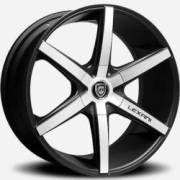 Lexani R-Six Machined Flat Black