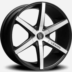 Lexani R-Six Machined Flat Black