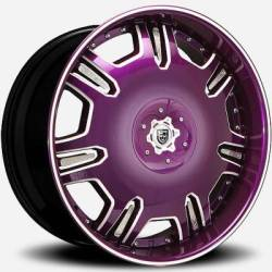 Lexani Radiant Purple and White with Crystal Inser