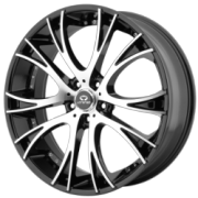 Lorenzo WL034 20x8.5x112 +38mm Black Machined
