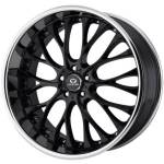Lorenzo WL27 Black w/Chrome Lip Wheels