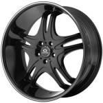Lorenzo WL31 Gloss Black w/Machined Stripe
