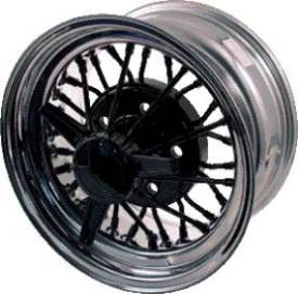 McLean 30-Spoke Black Center / Chrome Lip