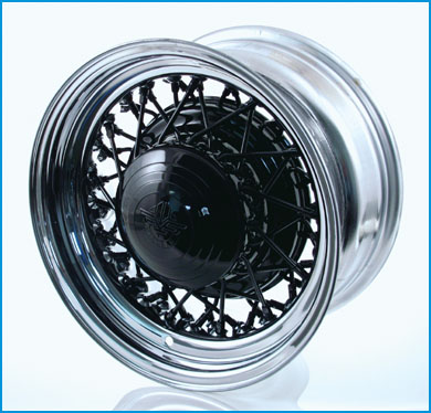 McLean 52-Spoke Black Center / Chrome Lip
