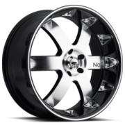 Noir Vendetta Black Machined Chrome Inserts