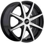 Pacer 784 Rebel Machined Black Wheels