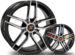 New SenDel S26 Black Machined Custom Wheels