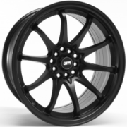 STR 518 Matte black Wheels