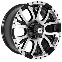 SenDel S30 Black Machined Truck Wheels