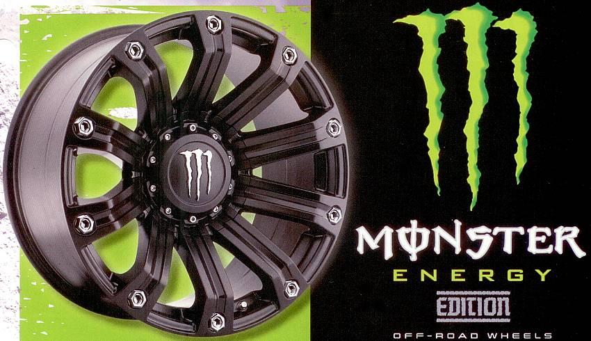TIS 534B Satin Black Monster Energy Off-Road
