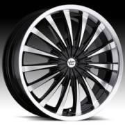 Vision Shattered 454 Gloss Black Machined Face