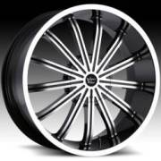 Vision Xtacy 456 Gloss Black Machined Face