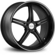 Vossen VVS087 Matte Black Machined Pinstripe