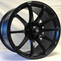 White Diamond 0069 Satin Black Wheels