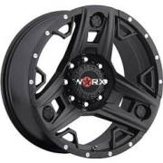 Worx 801 Triad Satin Black 8-Lug