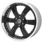 American Racing Wheels AR300 Razor6 Black