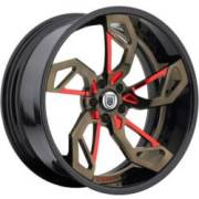 Asanti 806 Brown with Red Accents