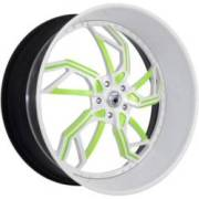 Asanti 806 White with Green Accents