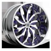 Asanti 821 Purple w/ Chrome
