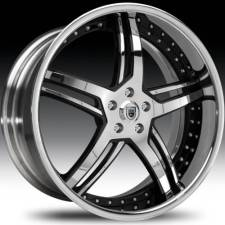 Asanti AF162 Chrome & Black Step Forged Wheels