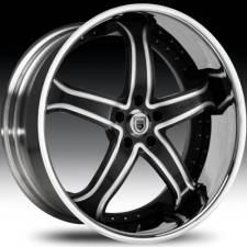 Asanti AF165 Black& Machined Step Forged Wheels