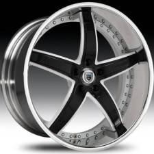 Asanti AF166 Black & White Step Forged Wheels